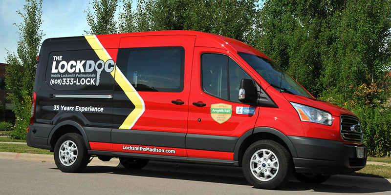 LockDoc company van -- a capable mobile locksmith platform