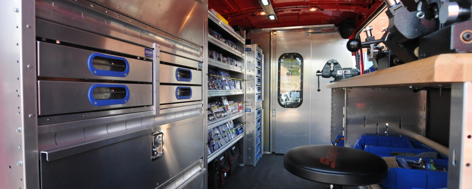 Mobile Locksmith Van - Interior